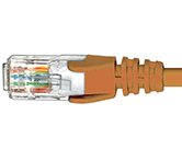 CAT5e Premium Patch Leads                         - HCAT5EOR0.5
